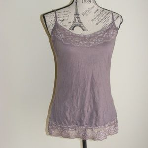 Maurices Dusty Mauve Crinkle Cami Tank Top